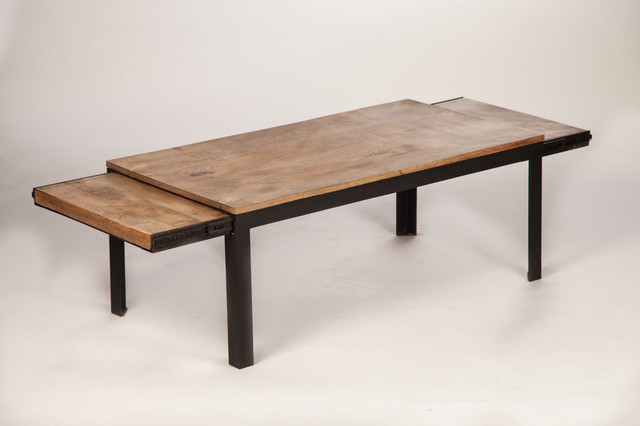 Table basse design rallonges industriel table basse other metro par - Fabriquer une table basse style industriel ...