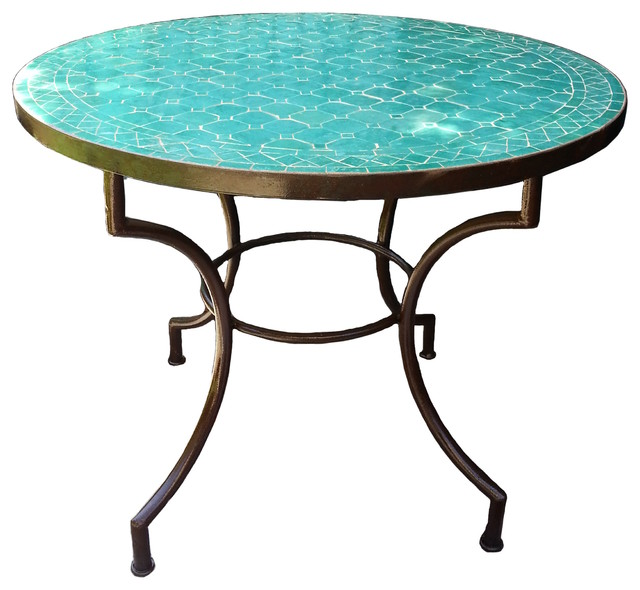 Moroccan Mosaic Table 36 Quot Round Mediterranean Outdoor