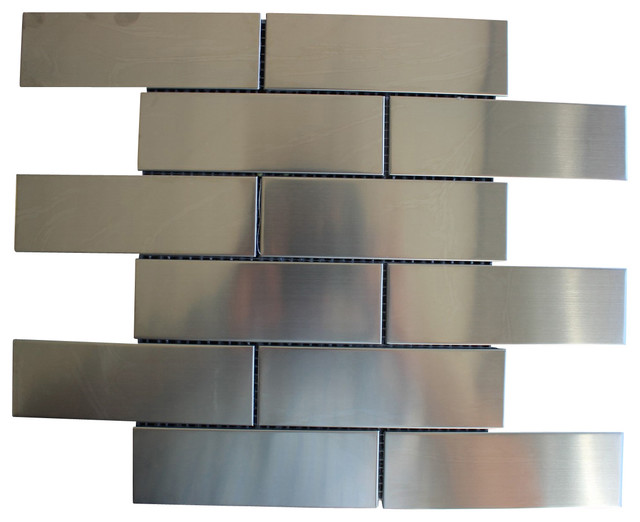 sub way stainless steel subway metal mosaic tile