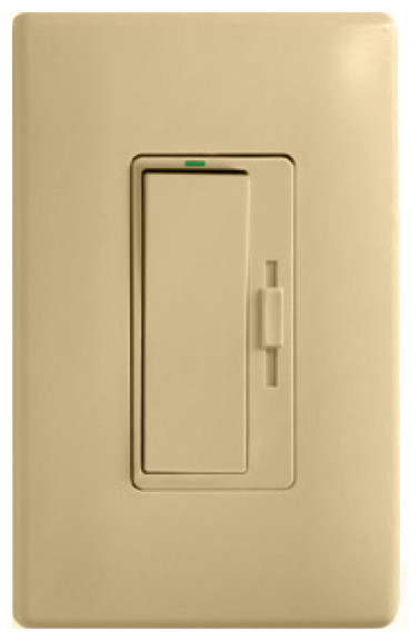 harmony universal dimmer switch w ivory wall plate led cfl hal incan legr modern. Black Bedroom Furniture Sets. Home Design Ideas