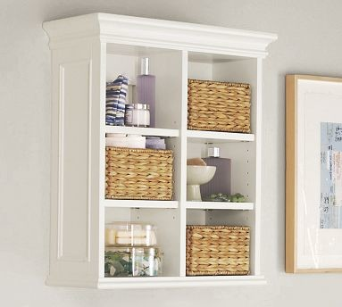 Newport Wall Cabinet White Traditional Bathroom Cabinets And Shelves By Pottery Barn