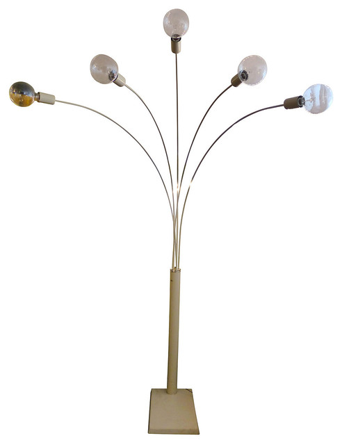 5 Arm Arc Floor Lamp Contemporary Floor Lamps By One