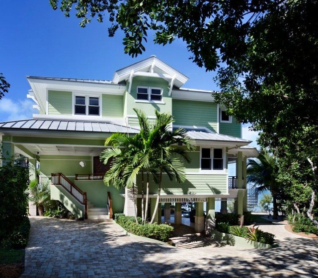 Key largo beach house florida keys florida tropical Architect florida