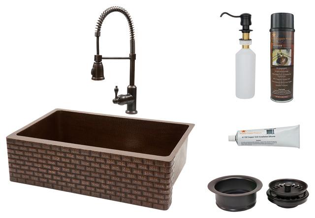 Copper Apron Kitchen Sink : All Products / Kitchen / Kitchen Fixtures / Kitchen Sinks