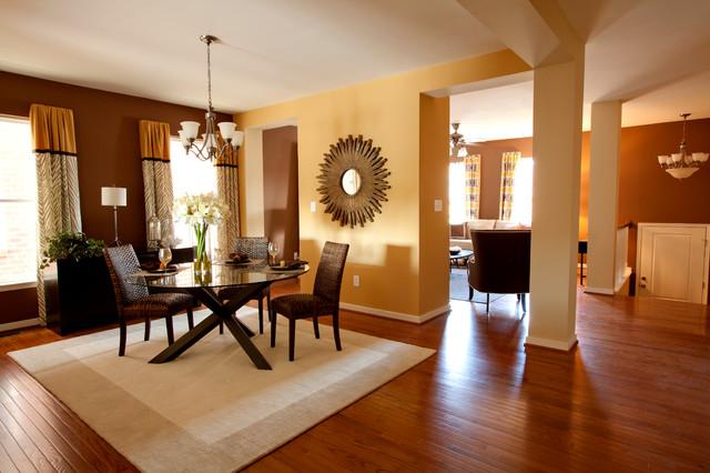 model home installations transitional dining room
