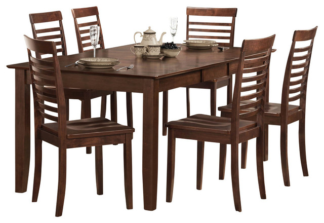 Homelegance Tyler Extension Leaf Dining Table in Brown  : traditional dining tables from www.houzz.com size 640 x 440 jpeg 73kB