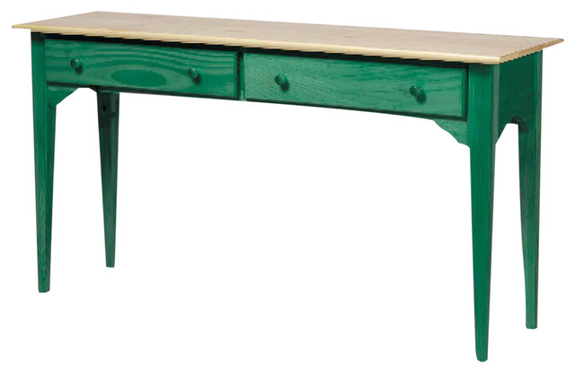 Hunter green solid pine sofa table 171419 transitional for 10 spring street console table