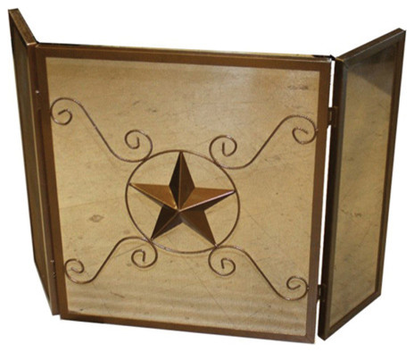 Fireplace Screen With Star Contemporary Fireplace