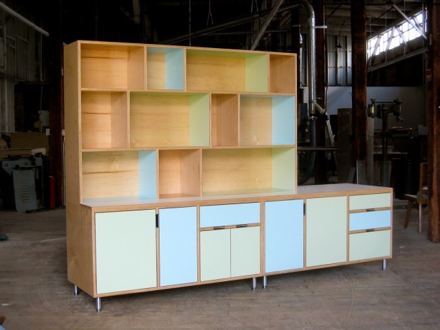 Lewis storage unit cabinet modern seattle by kerf design for All plywood kitchen cabinets