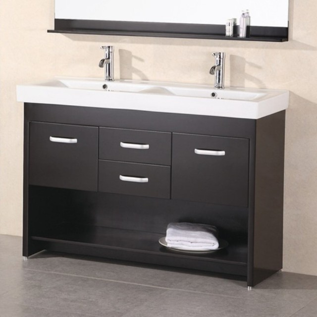Design Element Dec In Double Bathroom Vanity Set