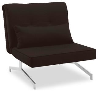 fauteuil convertible bz lit 1 personne marron chocolat. Black Bedroom Furniture Sets. Home Design Ideas