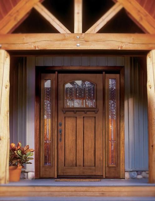Jeld Wen A387 Mahogany Woodgrain Door Sidelights Cashmere