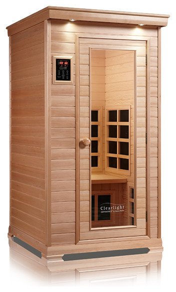 Clearlight Essential Nordic Spruce Infrared Sauna Seats 1