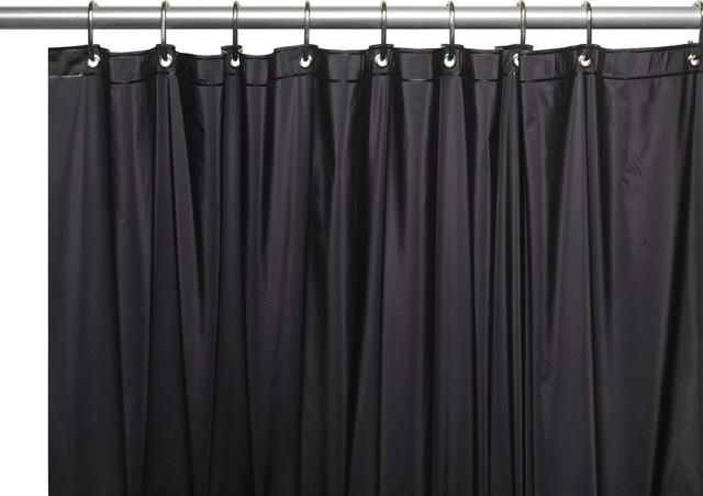 Vinyl 84 Extra Long Shower Curtain Black