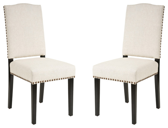 gdfstudio stuart fabric dining chairs beige set of 2 dining chairs