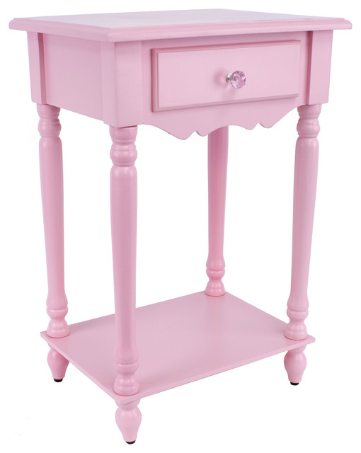 Pink Bedside Table: Light Pink Accent Table