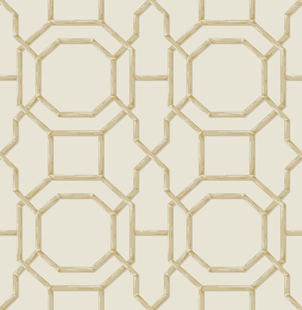 Modern Trellis Wallpaper: Summer Cream Trellis Wallpaper Bolt