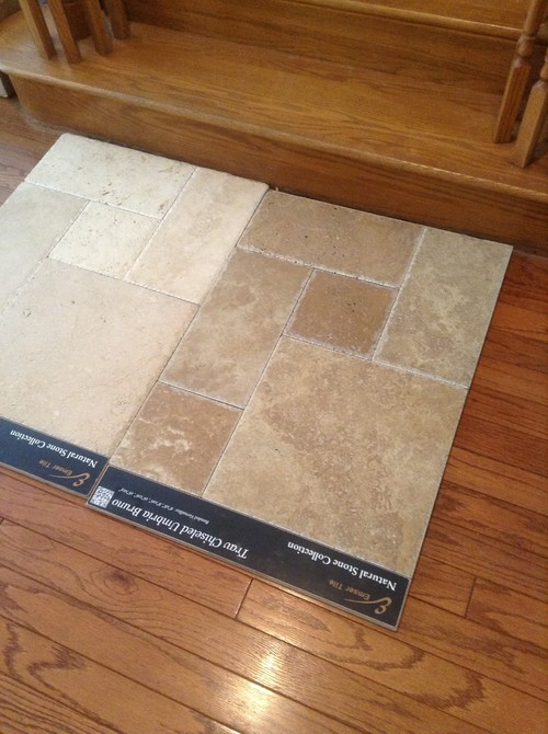 Considering replacing hardwood floors with travertine for Replacing wood floors