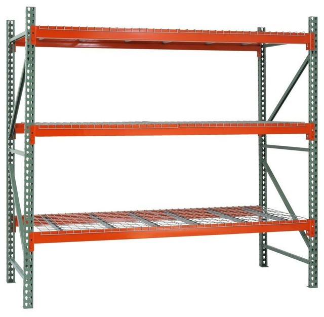 Free Standing Cabinets Racks & Shelves: Edsal Garage Storage 3-Shelf Steel - Contemporary ...