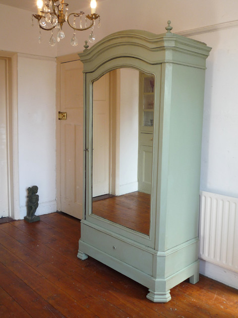 painted henri ii french mirror door armoire victorian. Black Bedroom Furniture Sets. Home Design Ideas