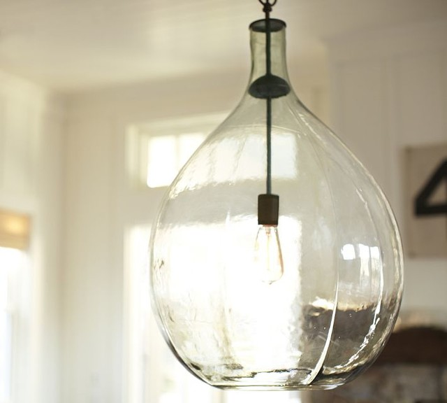 Clift Oversized Glass Pendant Clear Eclectic Pendant Lighting Sacramen