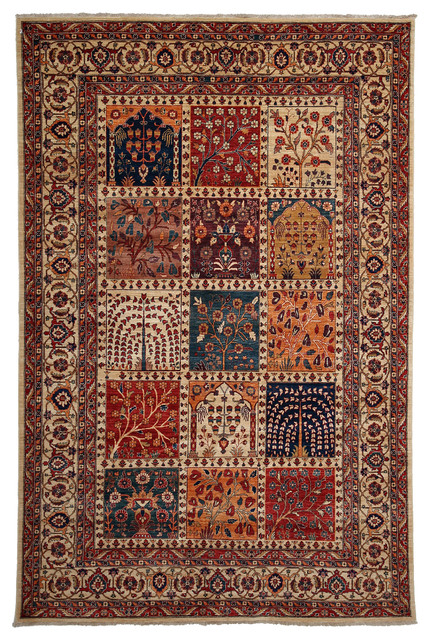 Traditional Wool Area Rug Red 6x9 Traditional Area