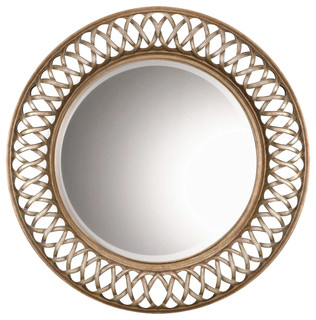 Entwined Round Mirror Contemporary Wall Mirrors