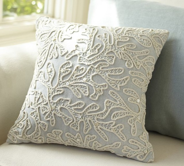 All-over Coral Decorative Pillow - Contemporary - Decorative Pillows - by Pottery Barn