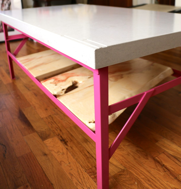 Eclectic Coffee Tables: Pink Coffee Table