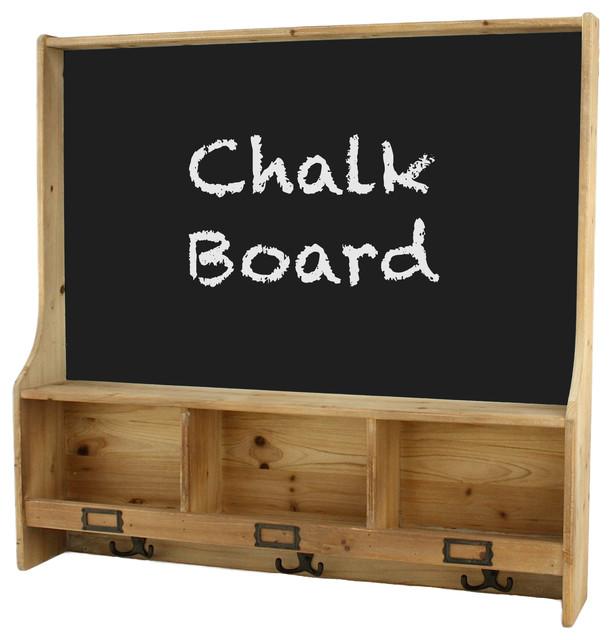 Cambridge Shelf With Chalk Board Farmhouse Bulletin Boards And Chalkboard