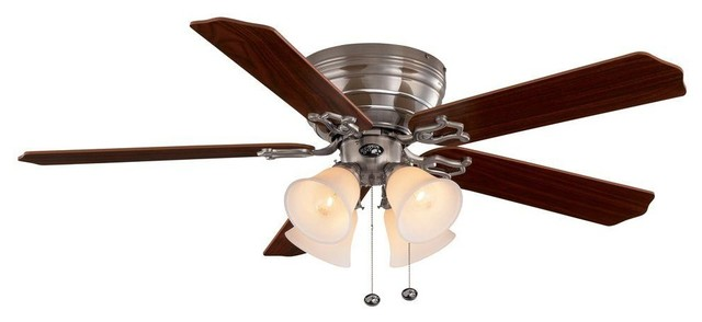 Hampton Bay Ceiling Fans Carriage House 52 In. Brushed