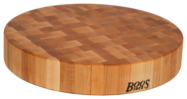 John Boos 18 24 Round Maple Chinese Chopping Blocks
