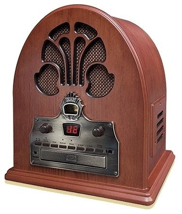 Cathedral AM/FM Radio with CD Player in Oak Finish - Traditional - Home Electronics