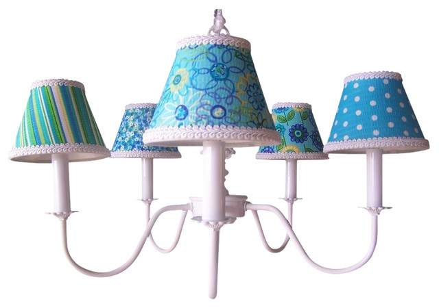 aqua mix match chandelier contemporary kids ceiling