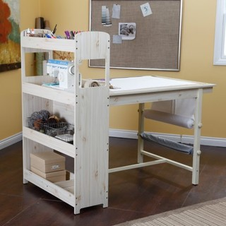Beldin Craft Table, Whitewashed - Traditional - Furniture - by Walmart