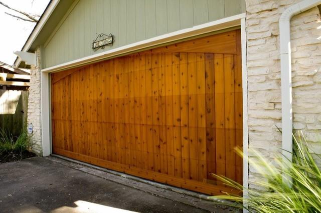 Western red cedar for Western garage