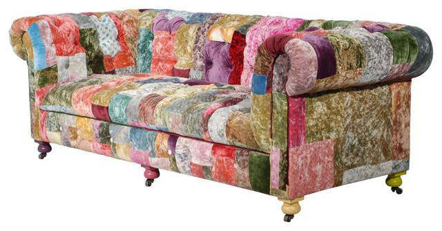 bensington velvet boheme sofa contemporain canap. Black Bedroom Furniture Sets. Home Design Ideas