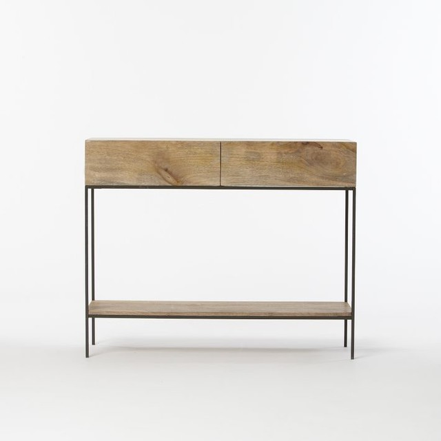 Rustic Storage Console Modern Side Tables And End Tables By West Elm
