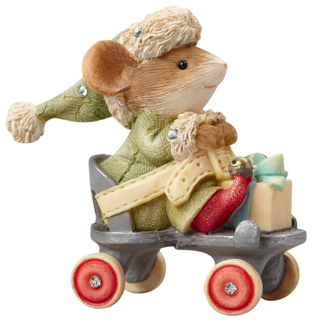 Enesco Heart Of Christmas Mouse On Skate Figurine - Traditional - Holiday Accents And Figurines ...