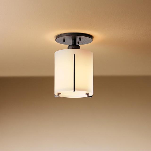 Exos Round Semi Flush Ceiling Mount Modern Flush Mount Ceiling Lighting