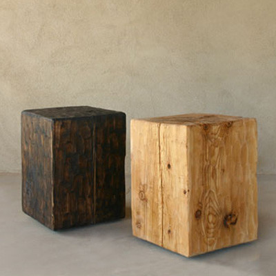 Pine Cube Table Stool Contemporary Side Tables And End Tables By Modern Dose