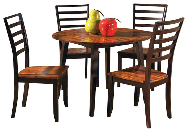 steve silver abaco 5pc round dining room table set in