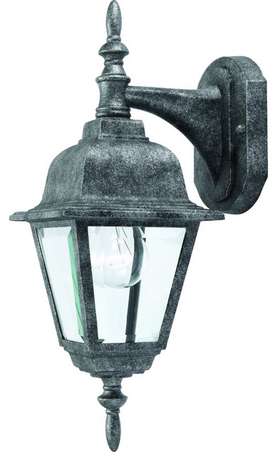 Antique Silver Outdoor Patio / Porch Exterior Light Fixture - Traditional - Outdoor Wall Lights ...