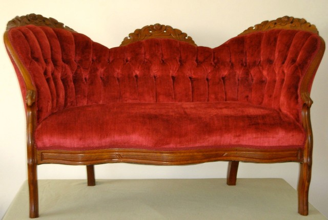 Red Antique Sofa Traditional Los Angeles By Gamino Decor