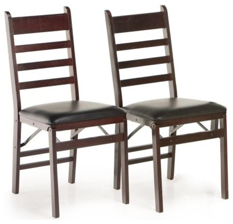 cosco woodcrest folding chair 2 pack traditional