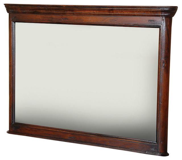 Royalty Solid Wood Wall Mirror - Traditional - Wall ...