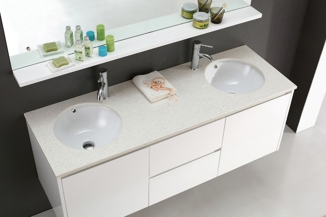 Luxur 1500 - Wall Hung White Vanity - Contemporary ...
