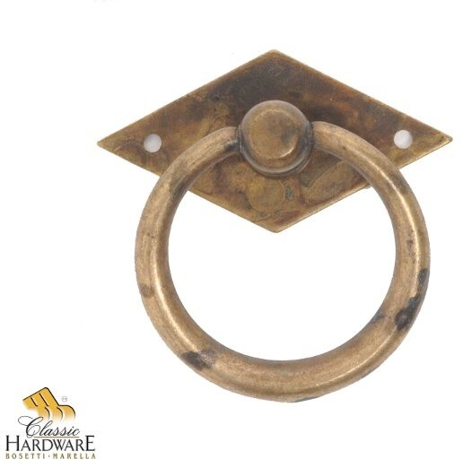Distressed Antique Brass Ring Pull CH10019403 Traditional Cabinet And Drawe