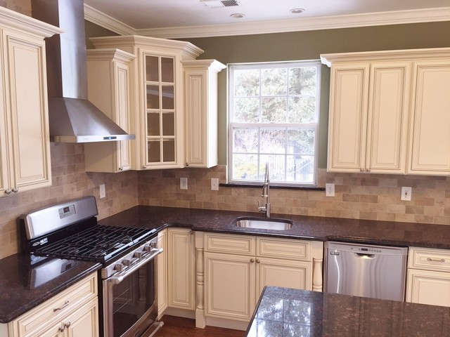 Kitchen remodeling in monroe nj traditional newark for Chinese kitchen cabinets nj
