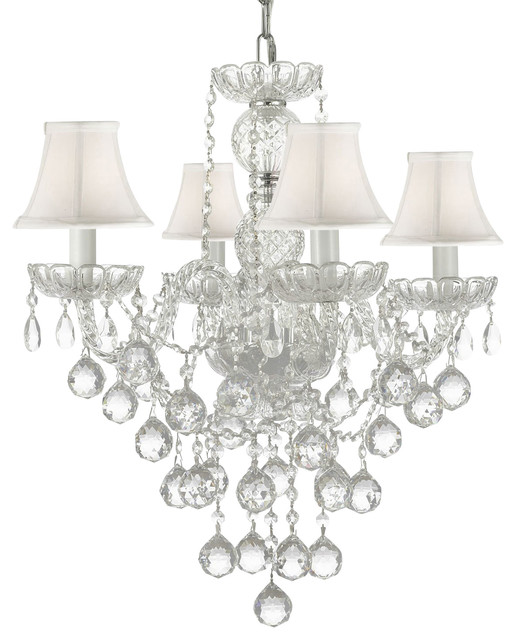 Authentic All Crystal Chandelier With Crystal Balls